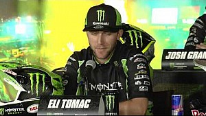 Eli Tomac on the pressure of the Supercross season opener - Anaheim 1 Press Conference
