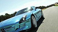 SLS AMG Coupé Electric Drive on the Ascari Race Rrack