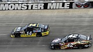 Tony Stewart beats out Montoya in the final laps at Dover
