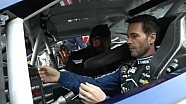 NASCAR.com's Holly Cain rides along with Jimmie Johnson (2013)