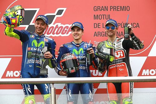 MotoGP Arjantin: Bol kazalı yarışta Vinales kazandı, Yamaha duble yaptı