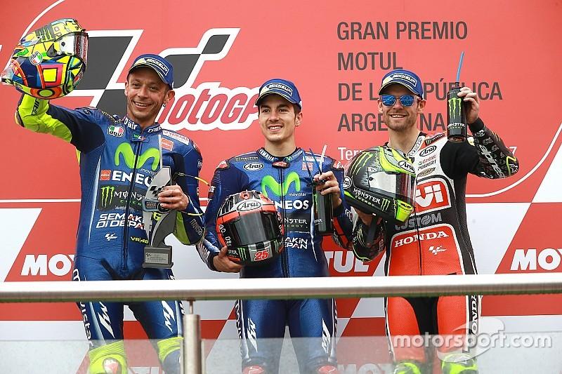 Viñales wint in Argentinië tweede Grand Prix op rij, Marquez crasht