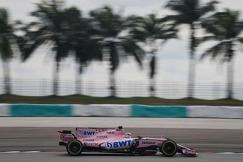Pérez decepcionado por el poco tiempo en pista en Malasia