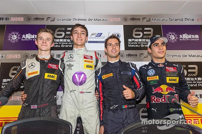 F3世界杯排位赛:打破赛道纪录!新秀拉塞尔夺下杆位