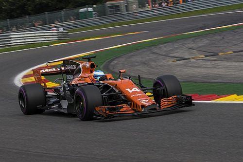 Incredibile: Alonso in pieno a Pouhon? E il motore Honda taglia potenza!