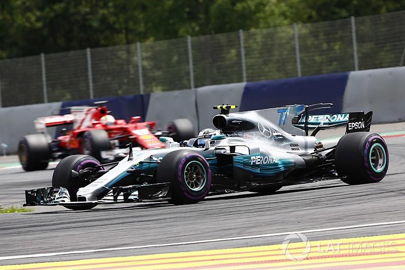 Bottas logra su segunda victoria ante el acoso final de Vettel en Austria