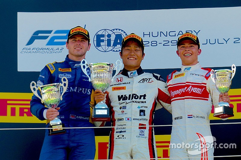 【F2ハンガロリンク】レース2完勝の松下「ちゃんと仕事すればF1に乗れると信じている」