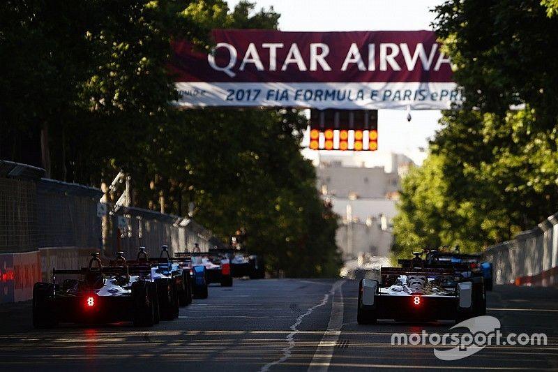 La parrilla de salida del ePrix de París