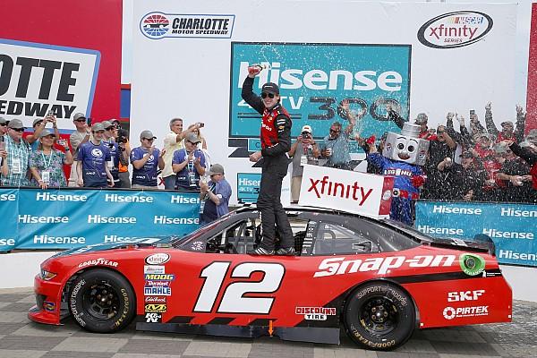 NASCAR XFINITY Blaney passes Harvick on final restart to win Xfinity race at Charlotte
