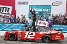 NASCAR XFINITY Blaney passes Harvick on final restart to win Xfinity race at Charlotte