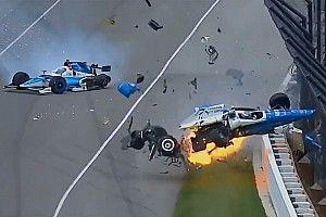 Dixon y Howard salen indemnes de un terrible accidente en Indianápolis