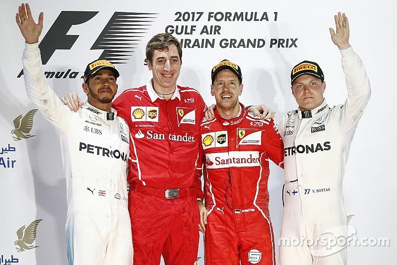 GP Bahrain: Vettel kalahkan Mercedes untuk raih kemenangan kedua
