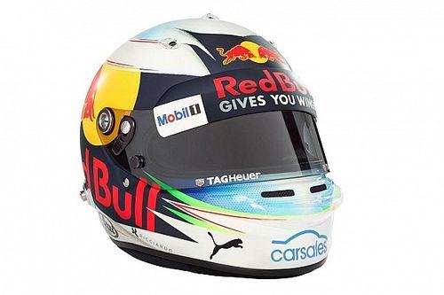 Fotogallery: il nuovo casco di Ricciardo per il Mondiale 2017 di F.1