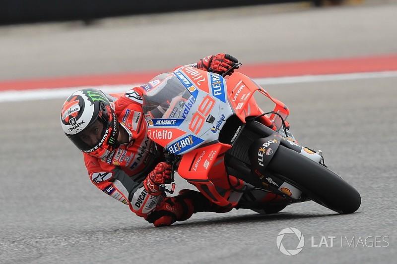 Lorenzo admite que está lejos de los más rápidos