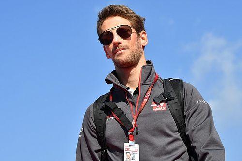 Grosjean moest huilen door reactie van zoon na crash in Baku