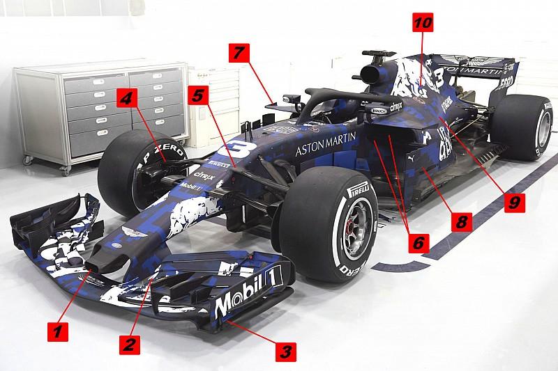 Análisis técnico: el RB14, la nueva apuesta de Red Bull