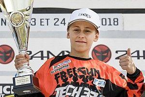 Maxime Grau décroche sa première victoire en Espoirs 85cc