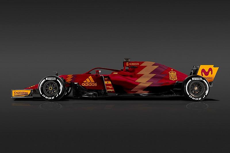 2018 Dünya Kupası takım formaları, Formula 1 araçlarına giydirilirdi