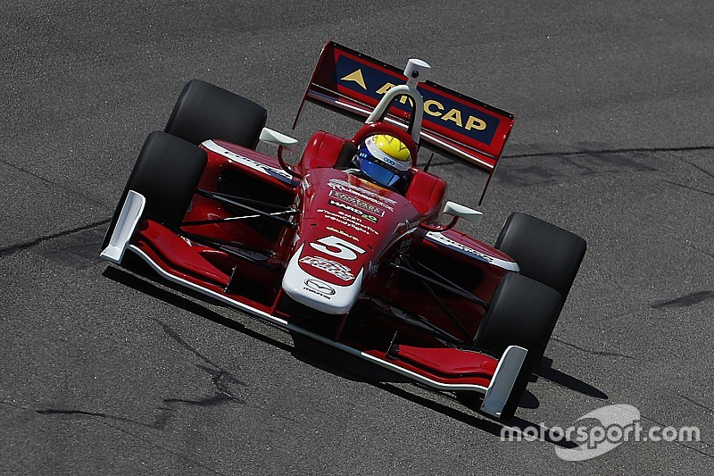 Urrutia arrancará tercero en la carrera final de Indy Lights 2018