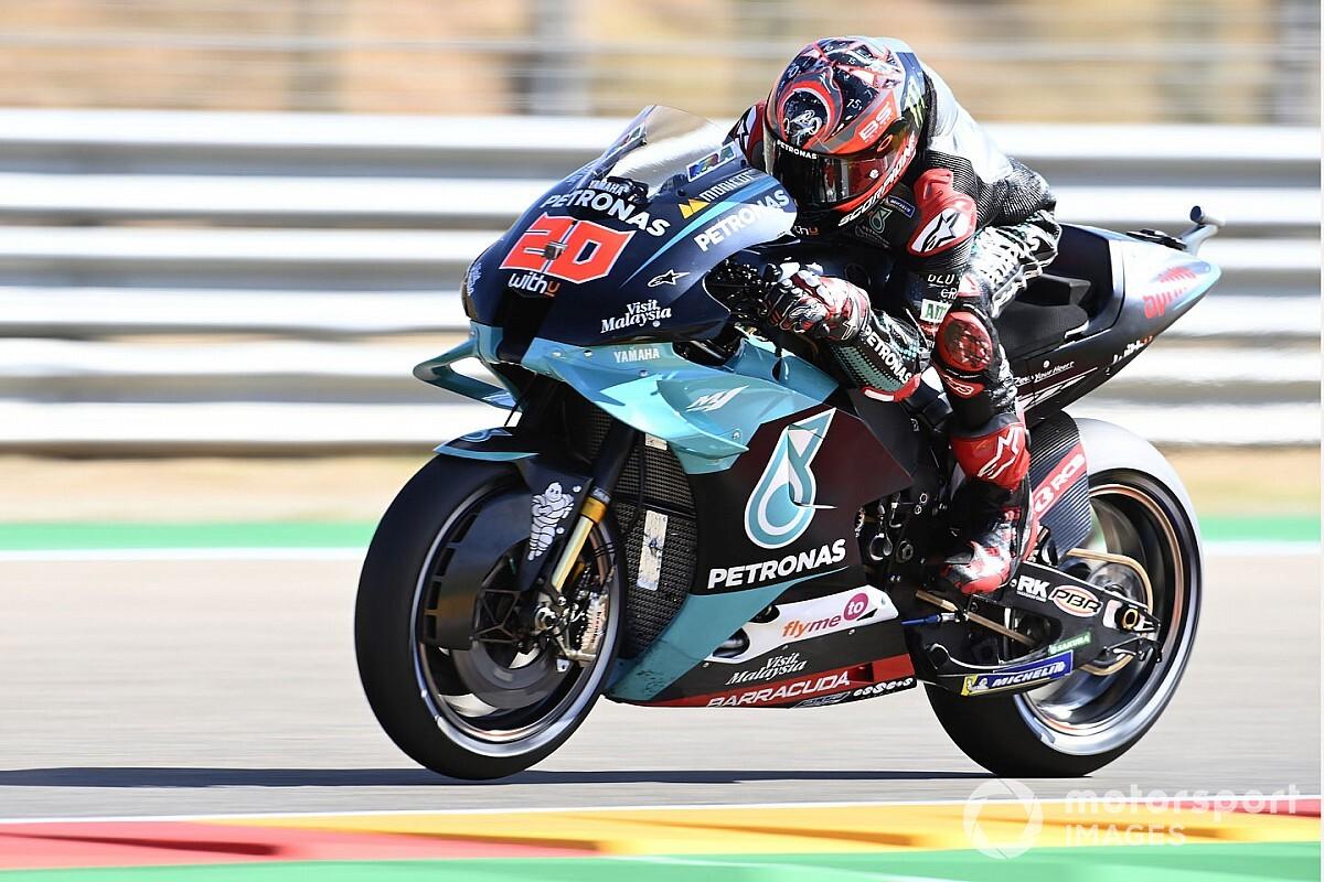 Quartararo logra la pole medio cojo en Aragón