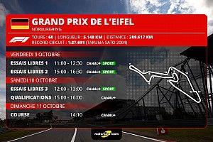GP de l'Eifel F1 - Programme TV et guide d'avant-course
