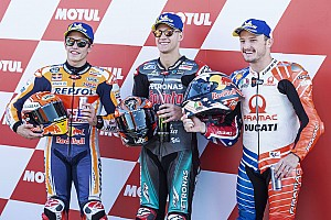 La parrilla de salida del GP de Valencia de MotoGP