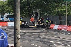 Юниор Renault разбил машину на демо-заездах в Сан-Паулу