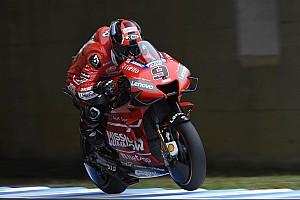 Petrucci aan kop in drijfnatte derde training GP Japan