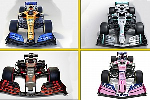 Todas las fotos de los coches de F1 y sus pilotos para 2019