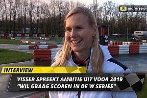 """Visser spreekt ambitie voor 2019 uit: """"Wil graag scoren in de W Series"""""""