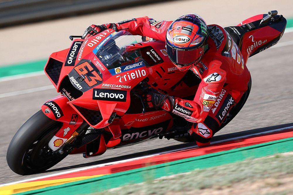 MotoGP Aragon: Isınma turlarında en hızlısı Bagnaia