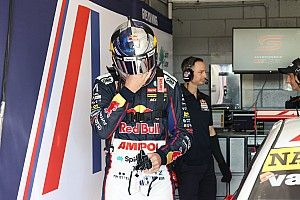 Van Gisbergen driving through collarbone pain