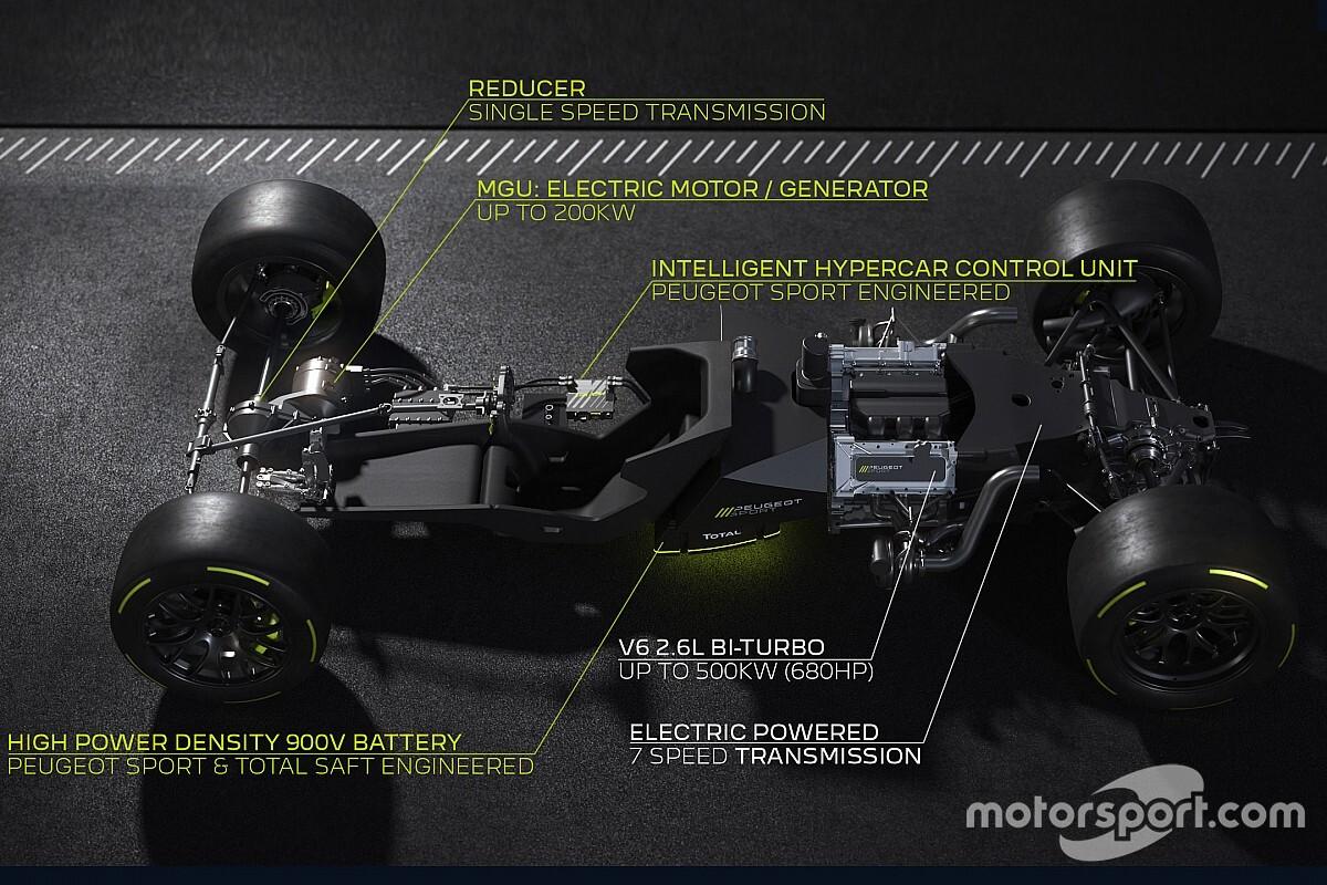 プジョー、LMH車両のパワートレイン詳細を発表。V6ツインターボエンジンを採用