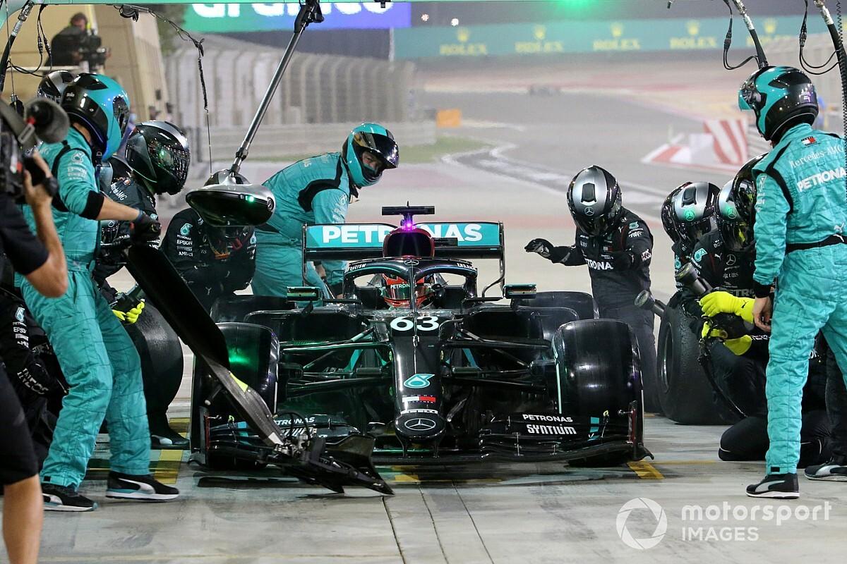 Dit schreven internationale media over Russell, Perez en Sakhir GP