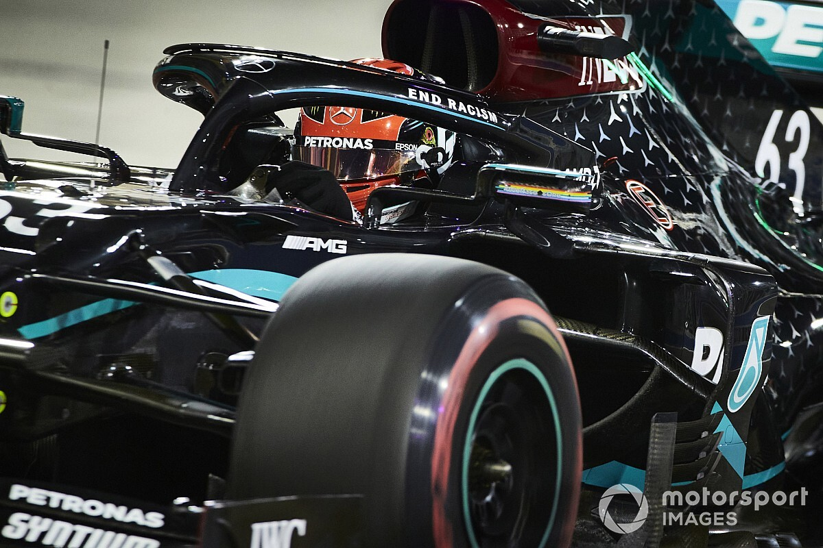 Bruised Russell fears fatigue after squeezing into Mercedes