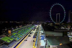 La longitud de la pista de Singapur fue reducida en dos metros