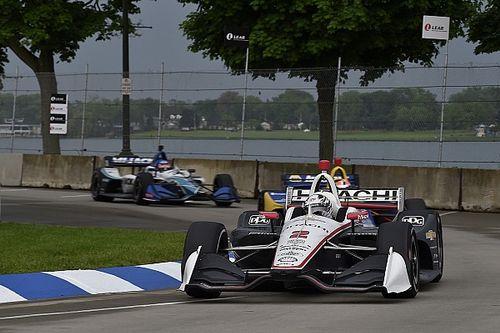 デトロイト決勝:雨のレース1はニューガーデンが優勝。佐藤琢磨3位
