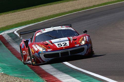 GT Italiano, Imola, Libere 1: Fuoco e Hudspeth al comando con la Ferrari di AF Corse