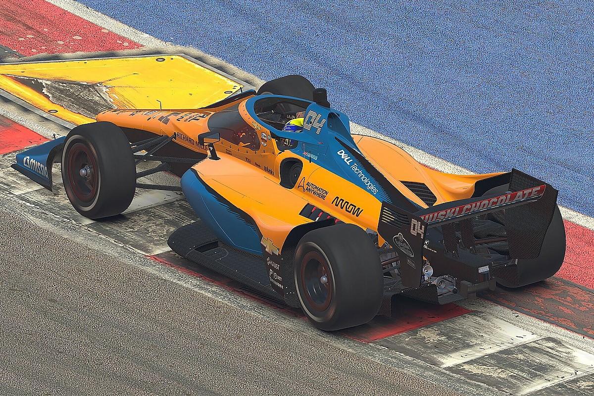 Szenzáció az IndyCar austini online versenyén: Norris nyert a McLarennel, és még egy megforgás is belefért