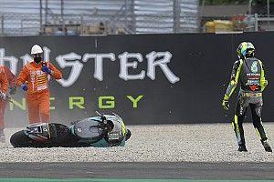 """Rossi admet """"une grosse déception"""" après une nouvelle chute"""