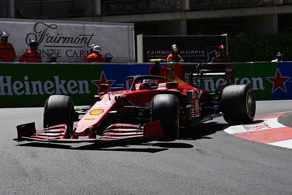 """F1: Sainz diz que Ferrari está """"muito perto"""" de ser ameaça para equipes do topo em Mônaco"""