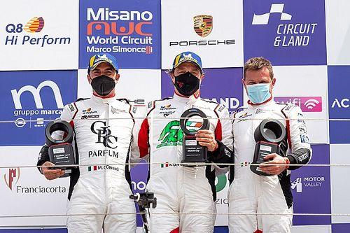 Carrera Cup Italia, Misano: De Giacomi sale in cattedra in Michelin Cup