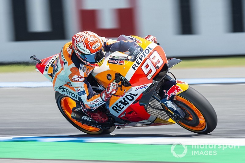 Thailand MotoGP: Marquez leads the Yamahas in warm-up