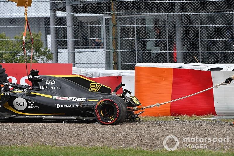 Hülkenberg összetört Renault-ja a Japán Nagydíjról