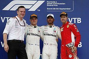 Russian GP: Hamilton wins after Mercedes team orders