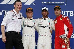 俄罗斯大奖赛:梅赛德斯动用车队指令确保汉密尔顿获胜