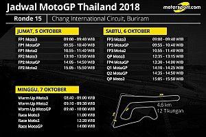 Jadwal lengkap MotoGP Thailand 2018
