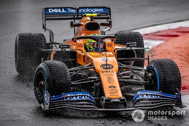 Norris a bokszban ragadt a McLaren technikai problémája miatt