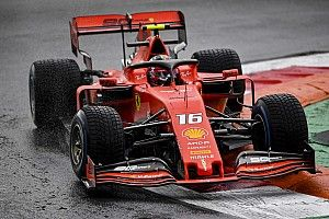 Leclerc lidera sobre los McLaren una 1° práctica mojada en Monza