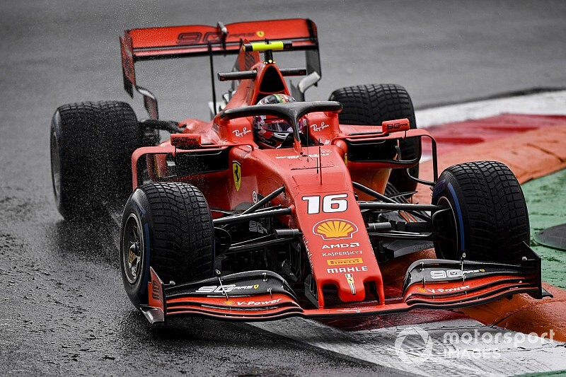 Italian GP: Leclerc leads McLarens in wet FP1